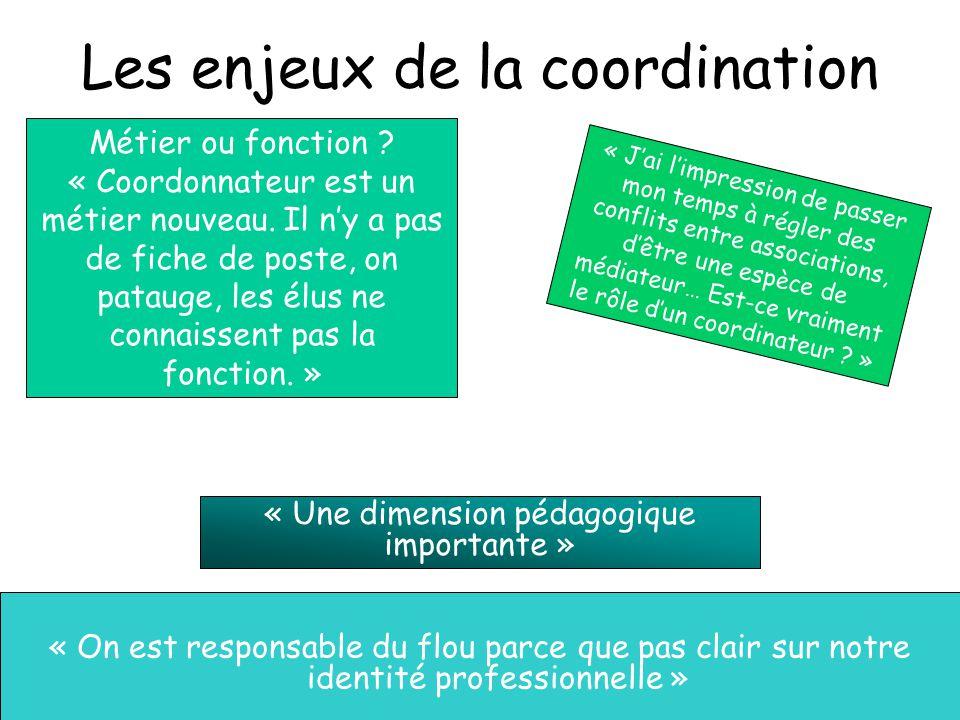 Les enjeux de la coordination