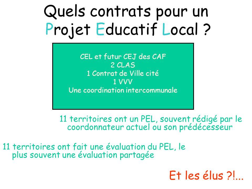 Quels contrats pour un Projet Educatif Local