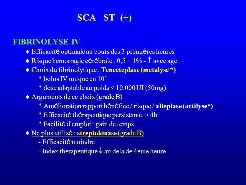 SCA ST (+) FIBRINOLYSE IV