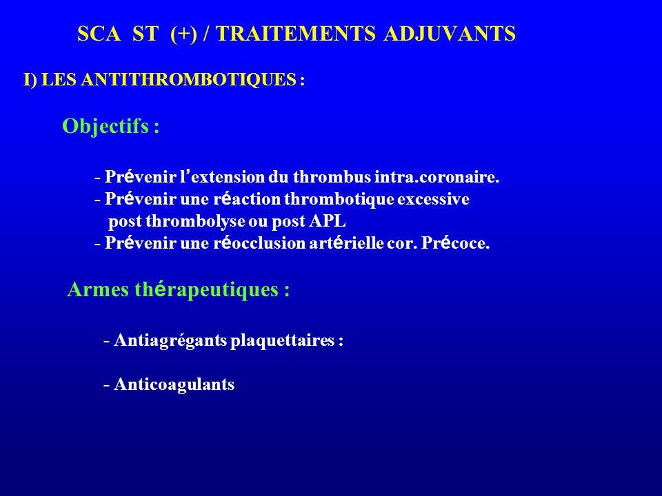- Prévenir l'extension du thrombus intra.coronaire.