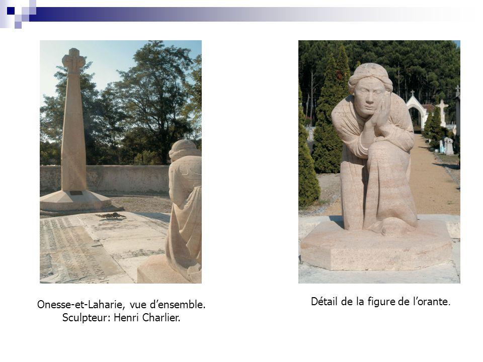 Onesse-et-Laharie, vue d'ensemble. Sculpteur: Henri Charlier.