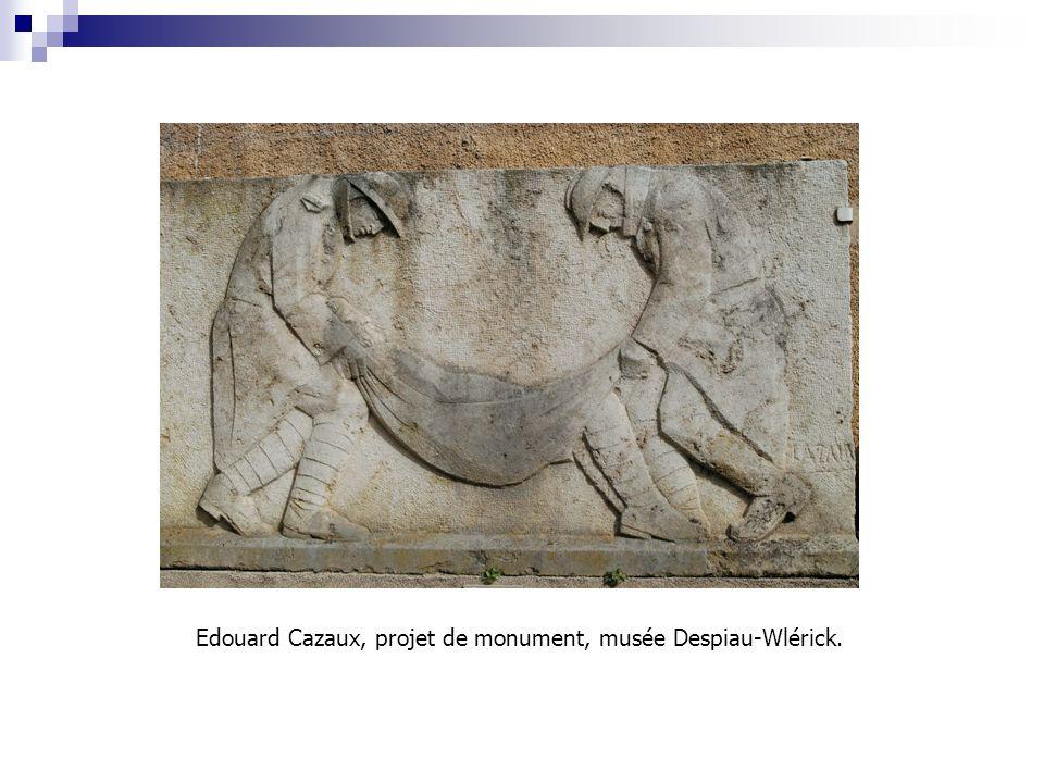Edouard Cazaux, projet de monument, musée Despiau-Wlérick.