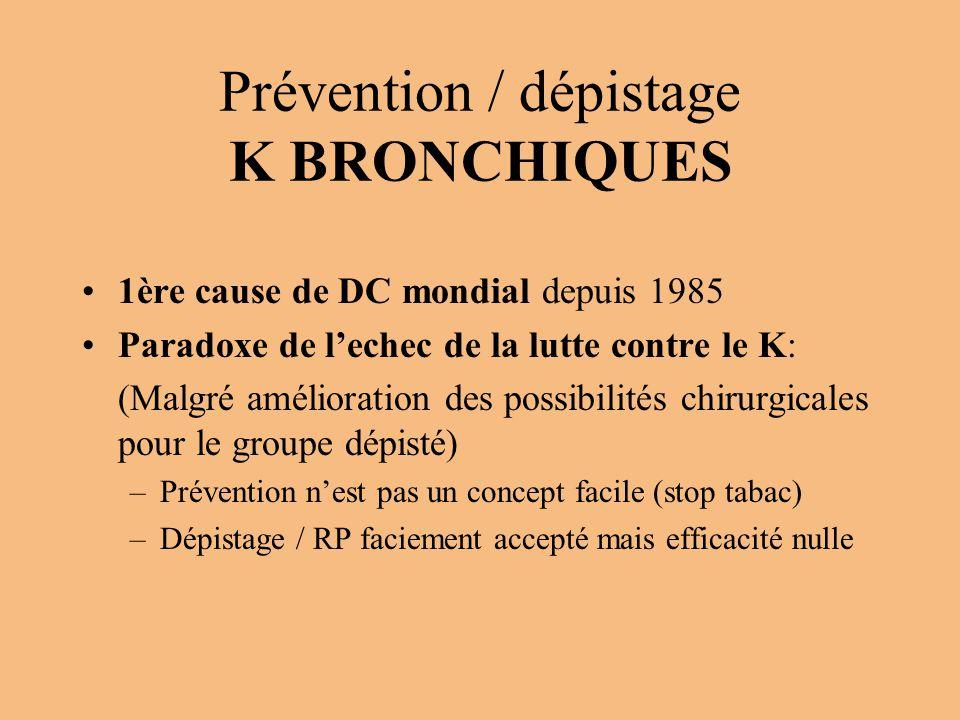 Prévention / dépistage K BRONCHIQUES