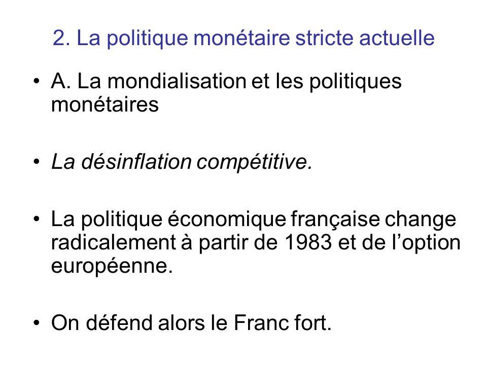 2. La politique monétaire stricte actuelle