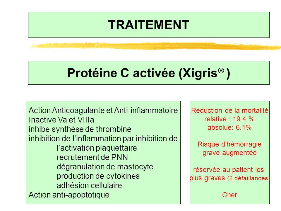Protéine C activée (Xigris )