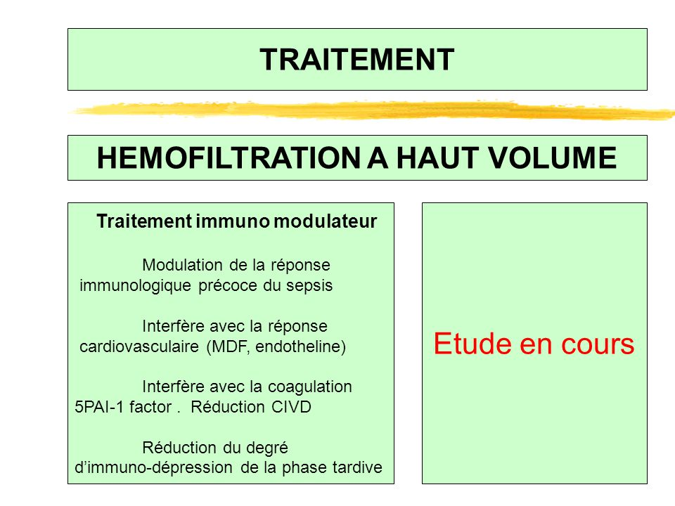 HEMOFILTRATION A HAUT VOLUME