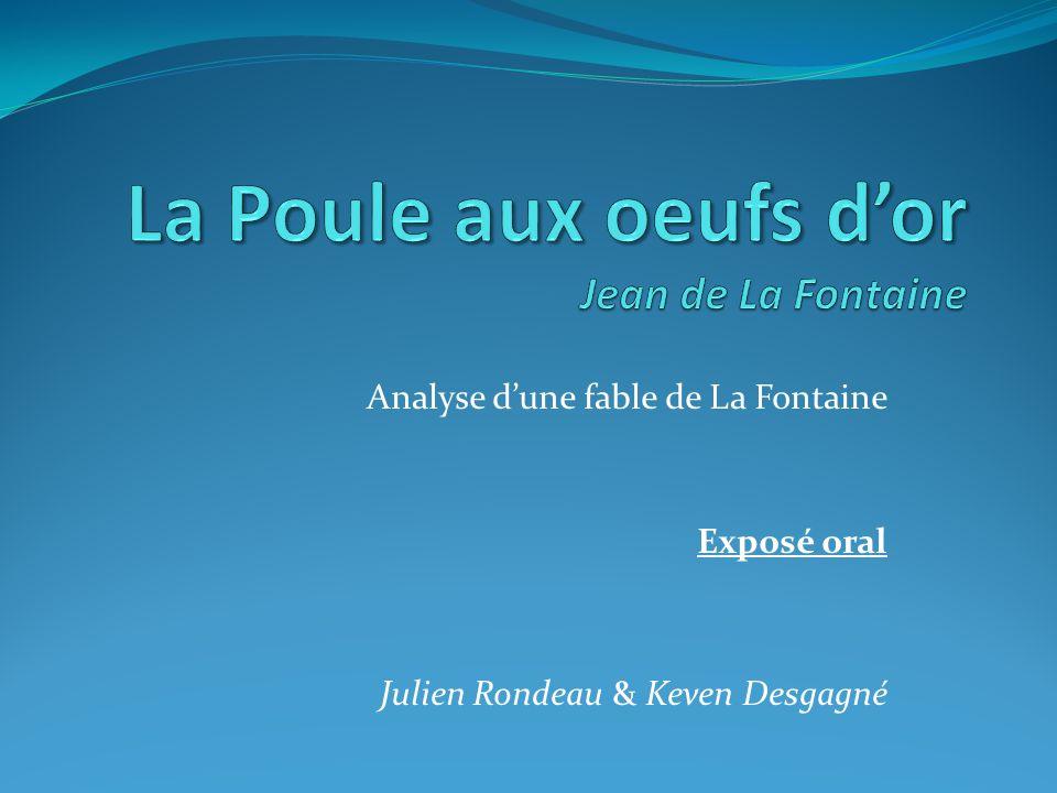 La Poule aux oeufs d'or Jean de La Fontaine