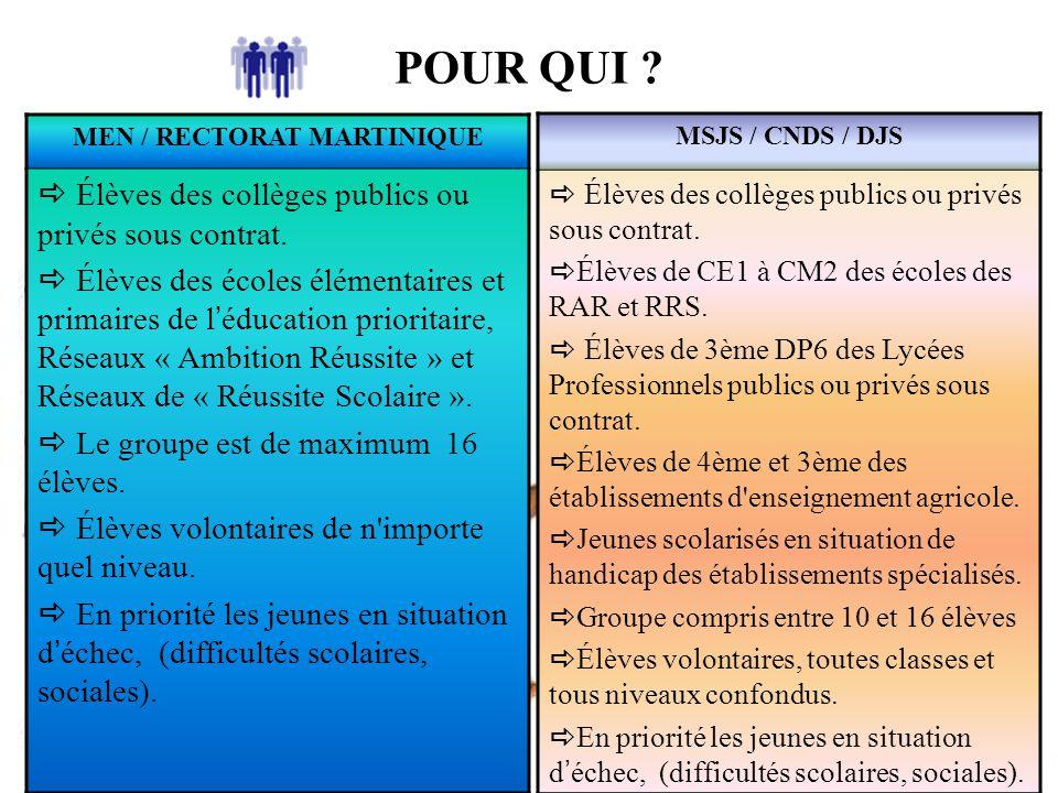 MEN / RECTORAT MARTINIQUE