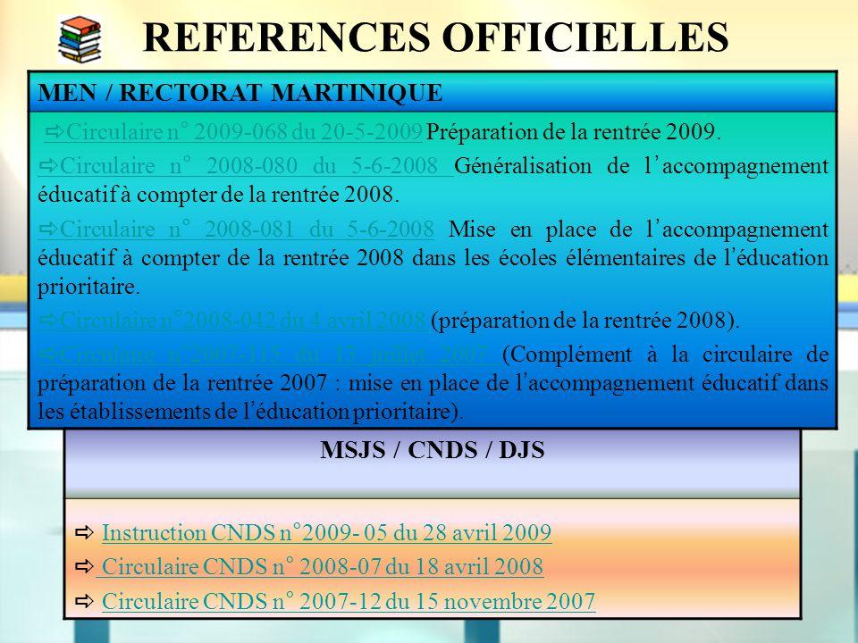 REFERENCES OFFICIELLES