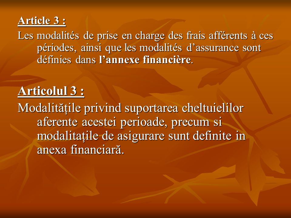 Article 3 :
