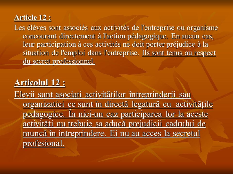 Article 12 :