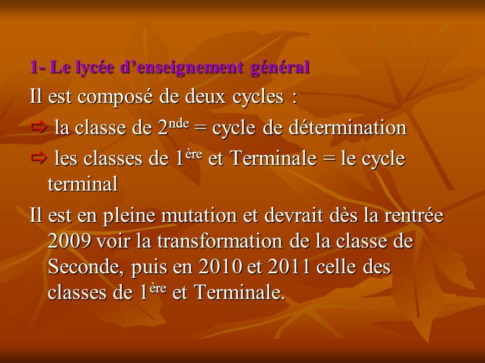 Il est composé de deux cycles :