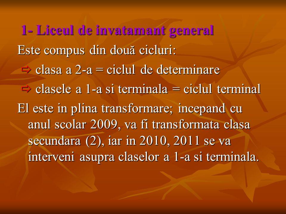 Este compus din două cicluri:  clasa a 2-a = ciclul de determinare