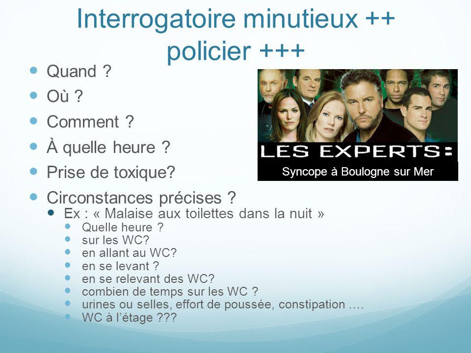 Interrogatoire minutieux ++ policier +++