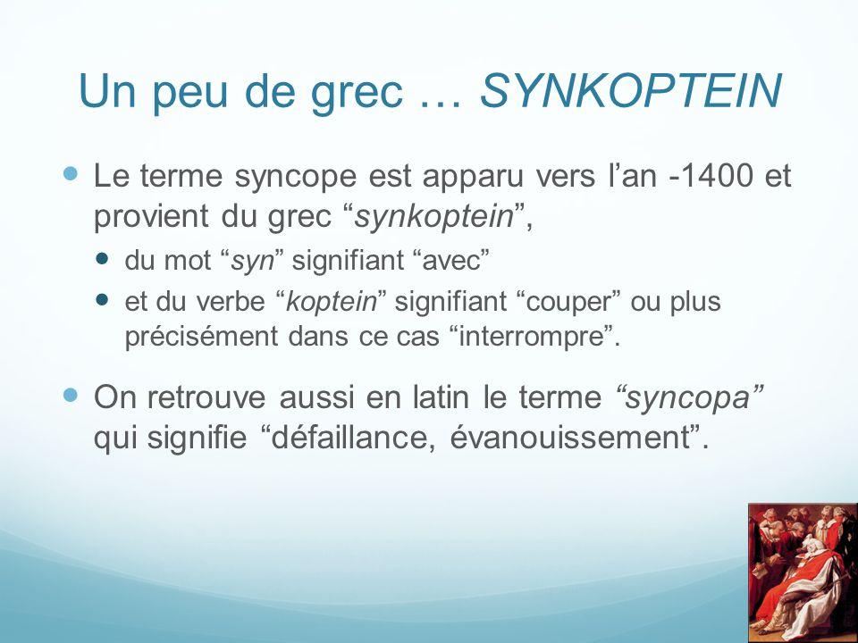 Un peu de grec … SYNKOPTEIN