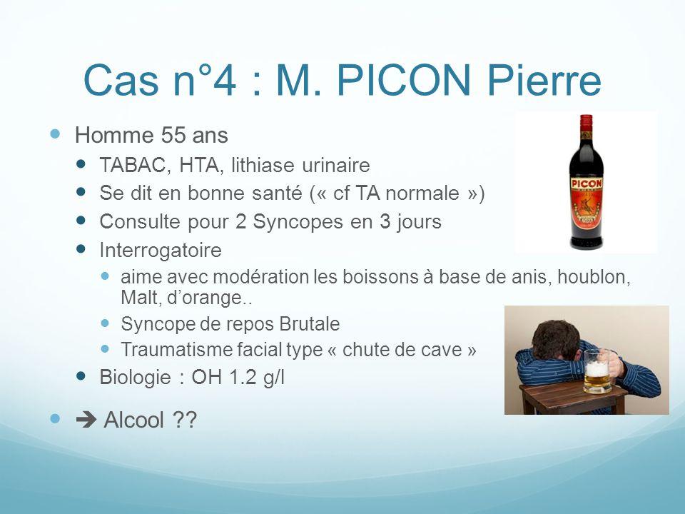 Cas n°4 : M. PICON Pierre Homme 55 ans  Alcool