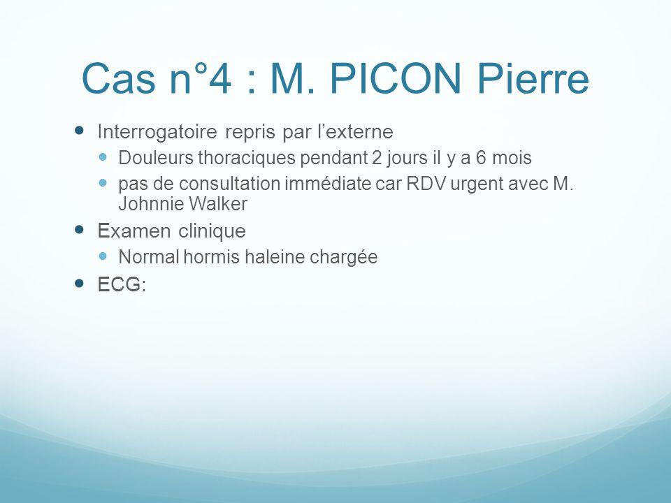 Cas n°4 : M. PICON Pierre Interrogatoire repris par l'externe