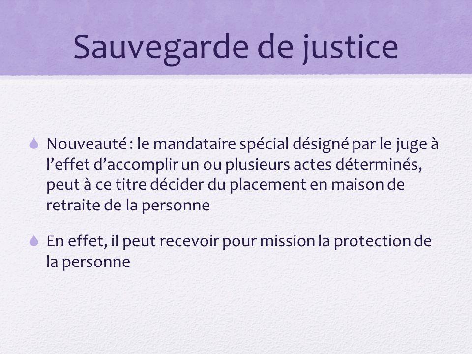Sauvegarde de justice