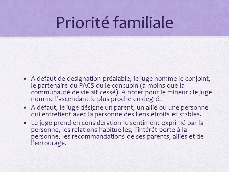 Priorité familiale