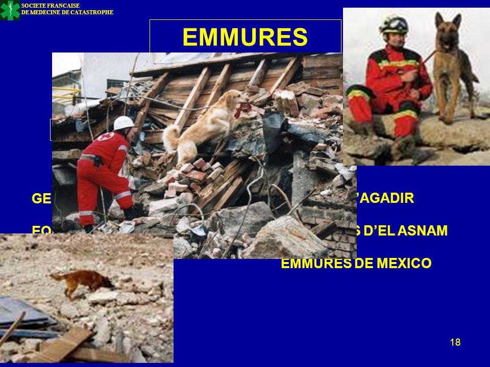EMMURES LOCALISATION DELAIS DE SURVIE GEOLOCALISATION EMMURE D'AGADIR