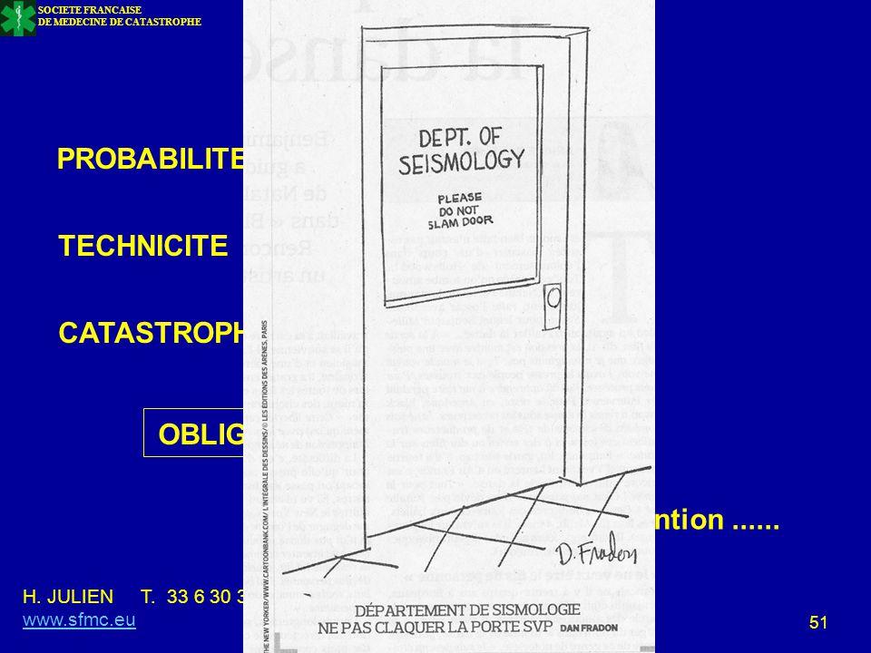 CONCLUSION PROBABILITE TECHNICITE CATASTROPHE MAJEURE