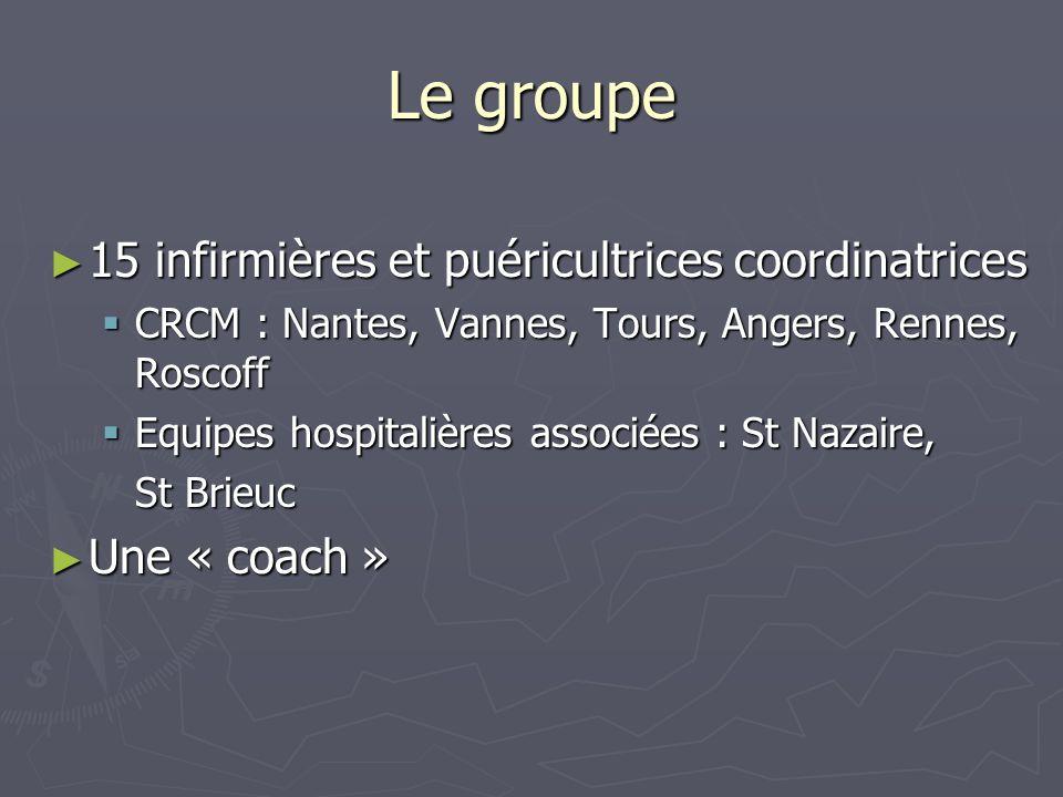 Le groupe 15 infirmières et puéricultrices coordinatrices