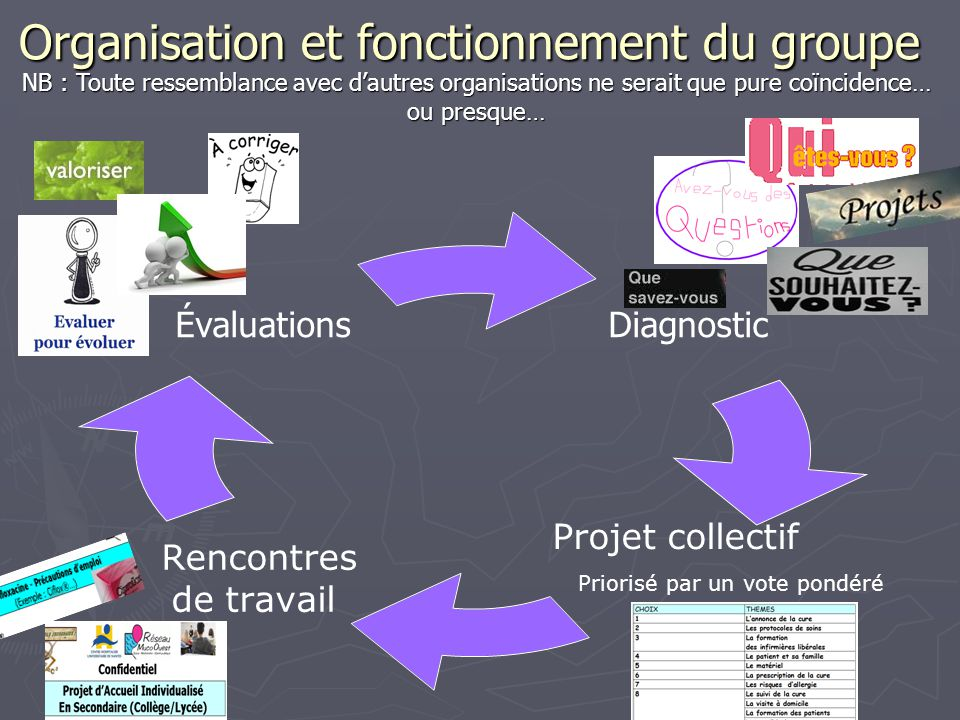 Organisation et fonctionnement du groupe