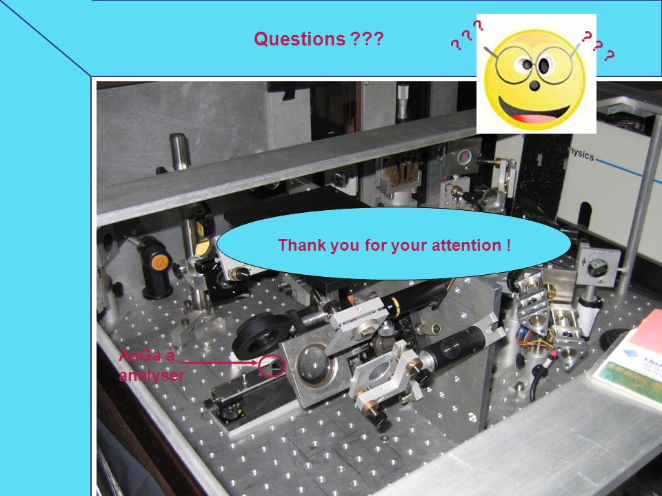 Questions Thank you for your attention ! AsGa à analyser