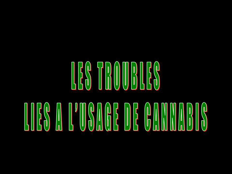 LIES A L'USAGE DE CANNABIS