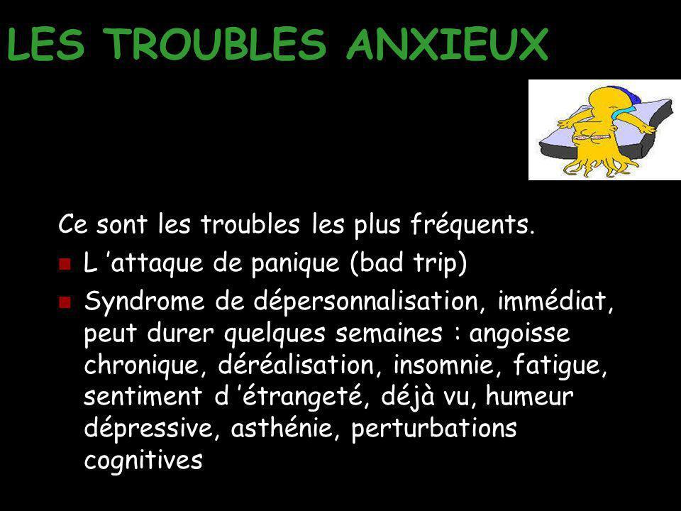 LES TROUBLES ANXIEUX Ce sont les troubles les plus fréquents.