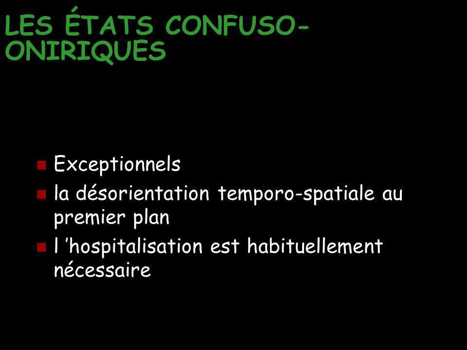 LES ÉTATS CONFUSO-ONIRIQUES