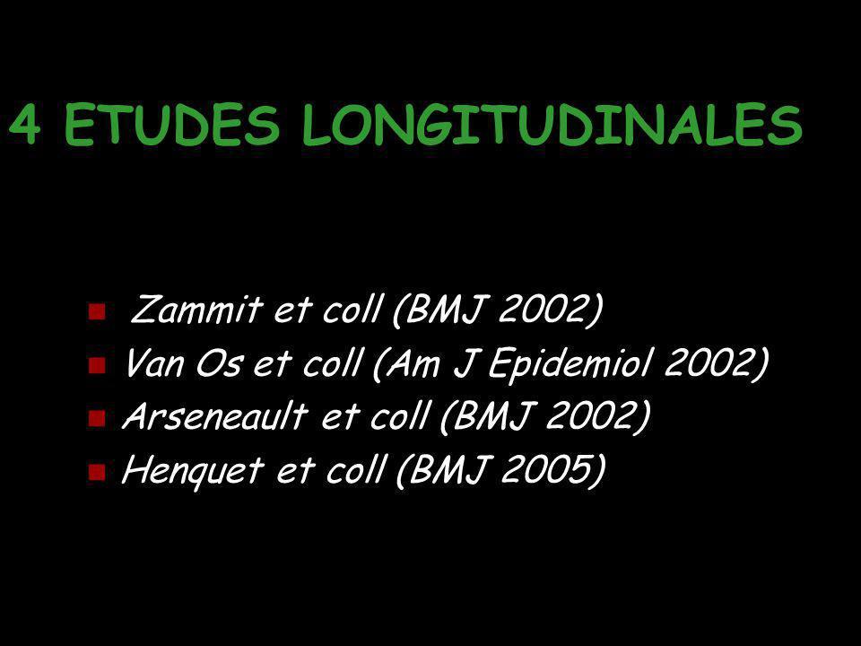 4 ETUDES LONGITUDINALES