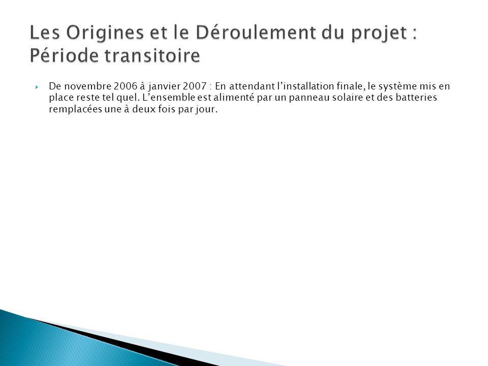 Les Origines et le Déroulement du projet : Période transitoire