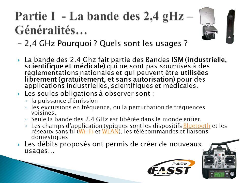 Partie I - La bande des 2,4 gHz – Généralités…