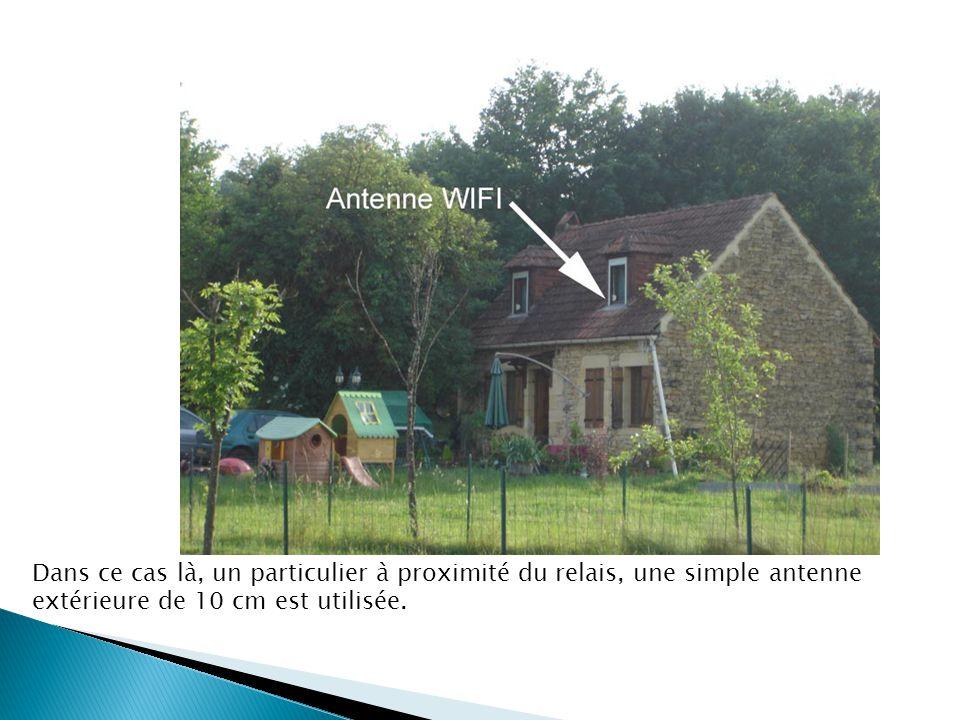 Dans ce cas là, un particulier à proximité du relais, une simple antenne extérieure de 10 cm est utilisée.