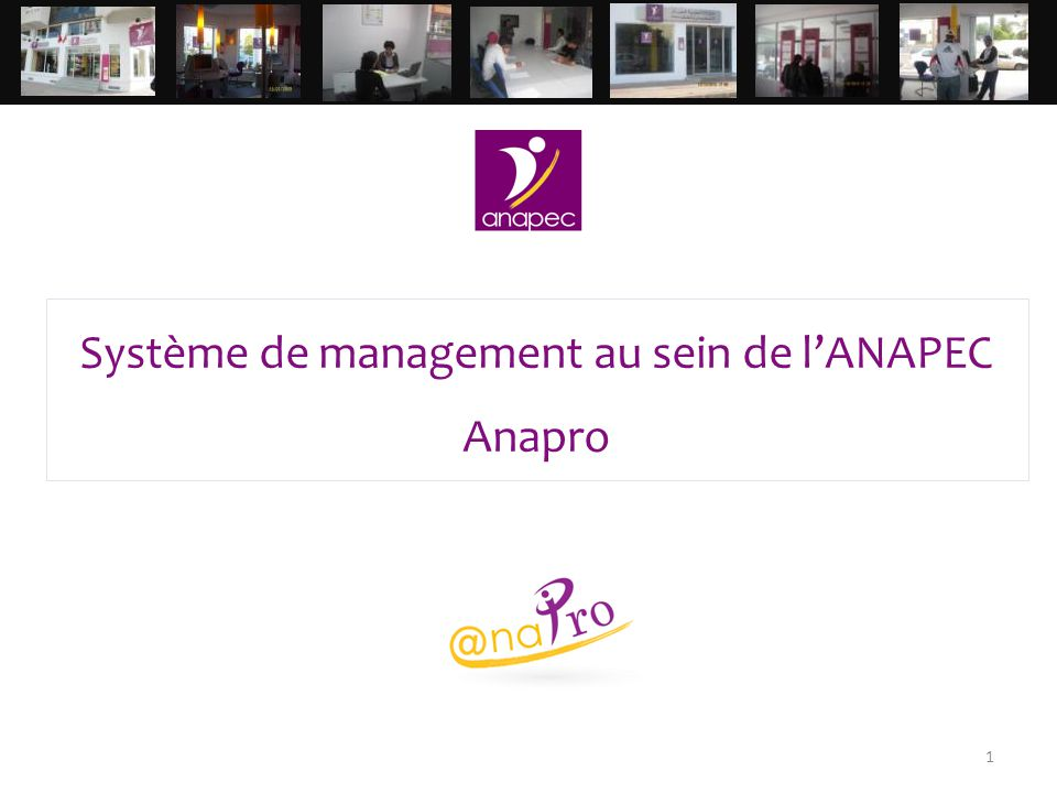 Système de management au sein de l'ANAPEC