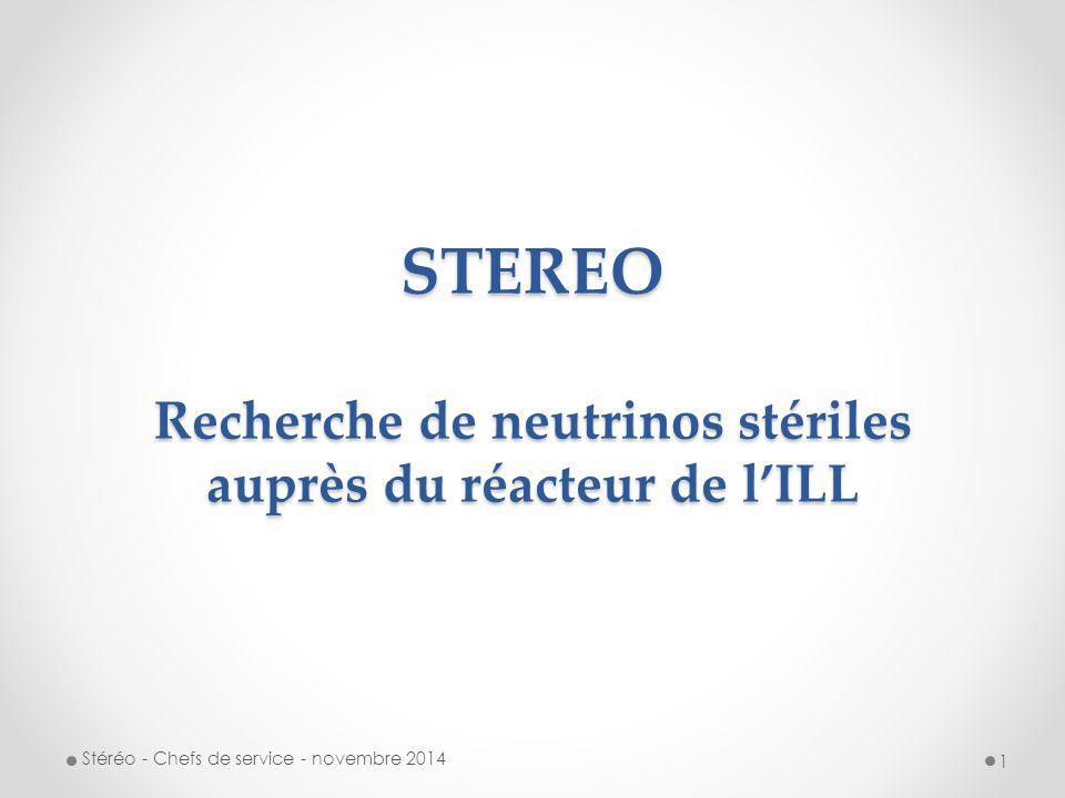STEREO Recherche de neutrinos stériles auprès du réacteur de l'ILL
