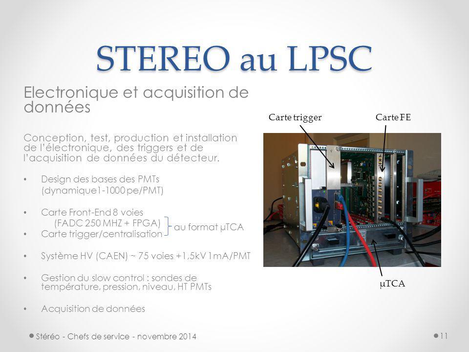 STEREO au LPSC Electronique et acquisition de données