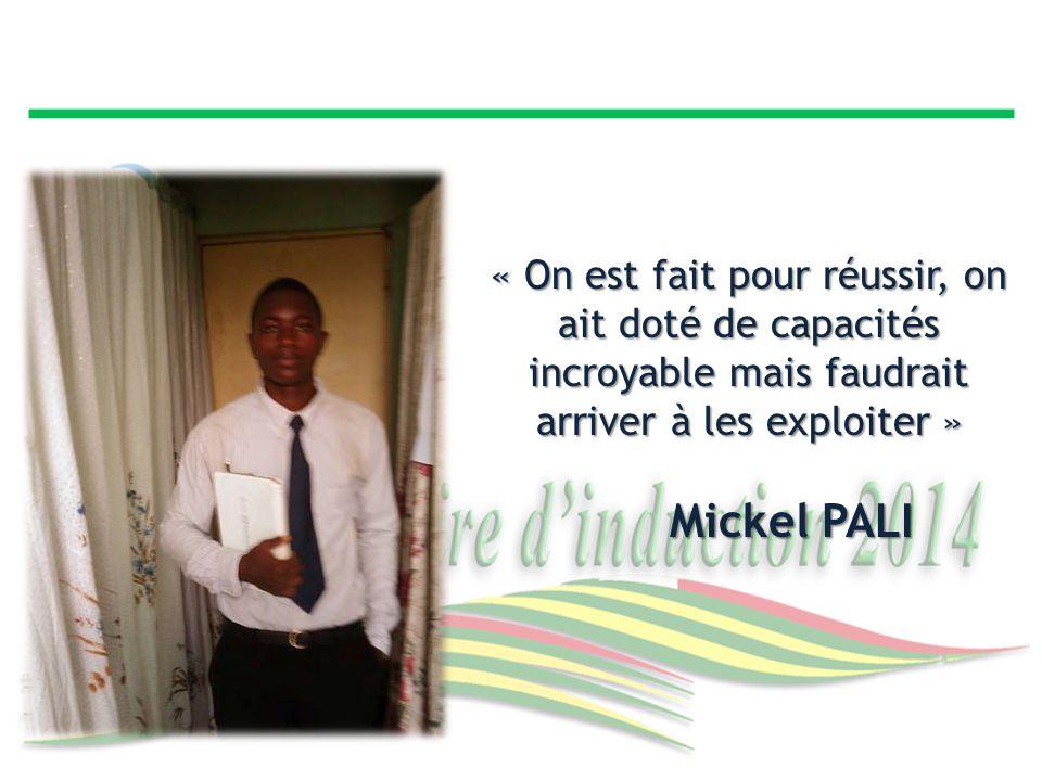 « On est fait pour réussir, on ait doté de capacités incroyable mais faudrait arriver à les exploiter »