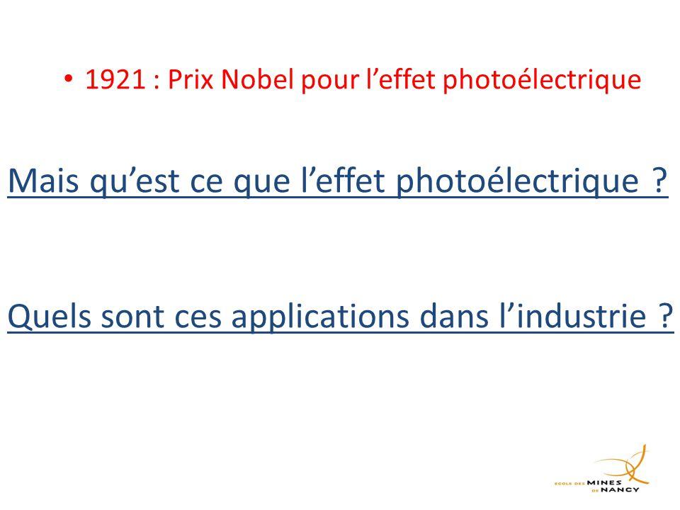 Mais qu'est ce que l'effet photoélectrique