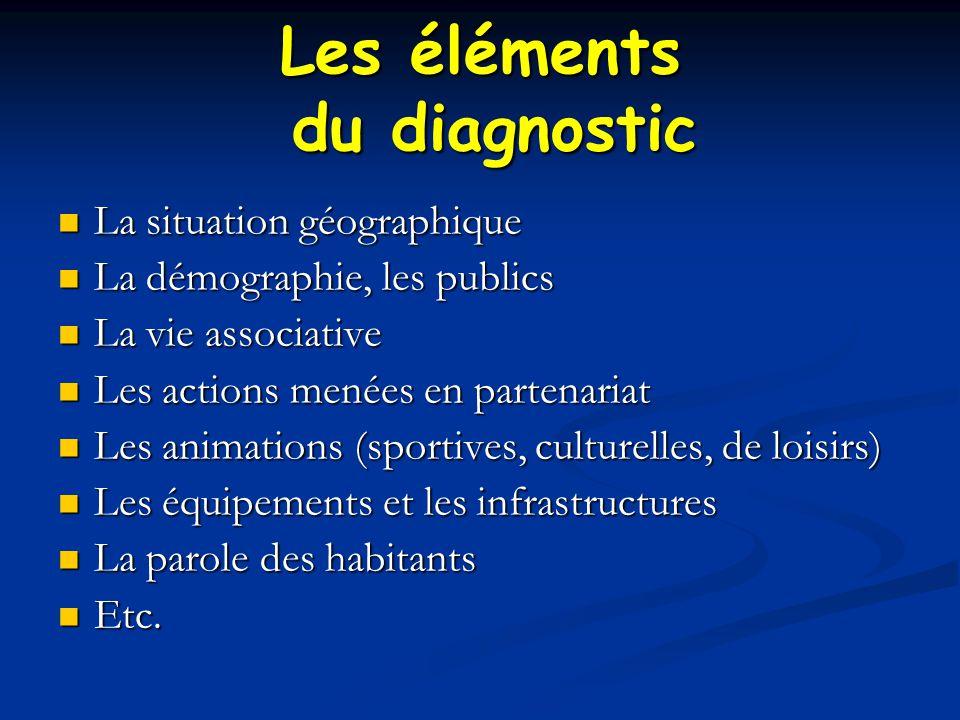 Les éléments du diagnostic