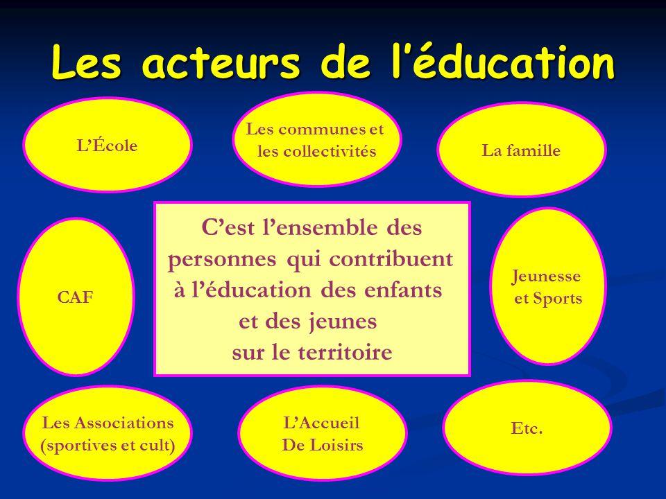 Les acteurs de l'éducation
