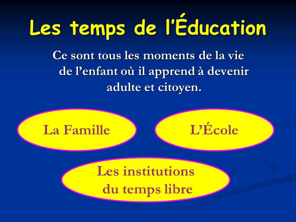 Les temps de l'Éducation