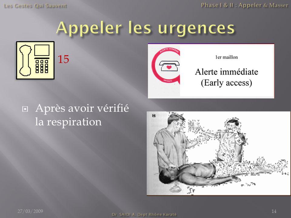 Phase I & II : Appeler & Masser Dr SAIDI A. Dept Rhône Karaté
