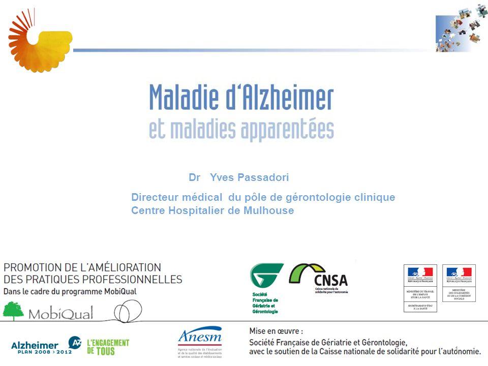 A Dr Yves Passadori. Directeur médical du pôle de gérontologie clinique Centre Hospitalier de Mulhouse.