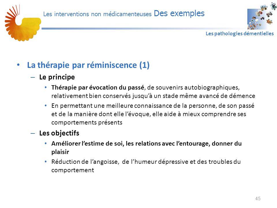 La thérapie par réminiscence (1)