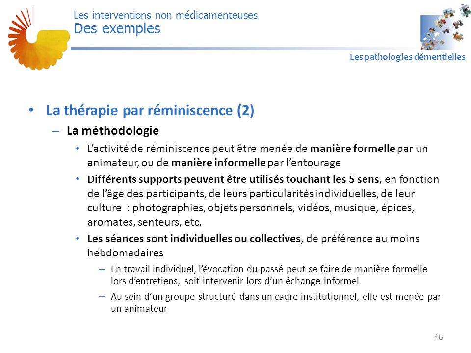La thérapie par réminiscence (2)