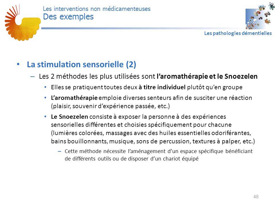 La stimulation sensorielle (2)