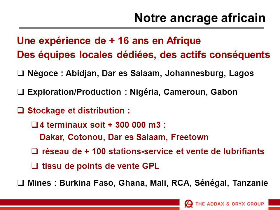 Notre ancrage africain