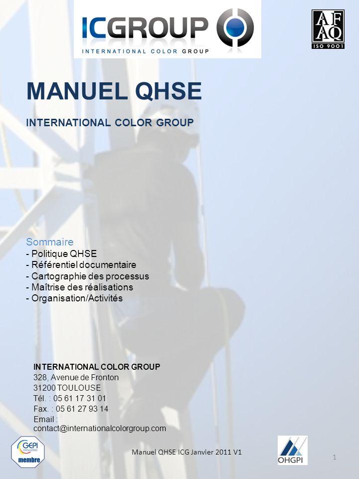 Manuel QHSE ICG Janvier 2011 V1